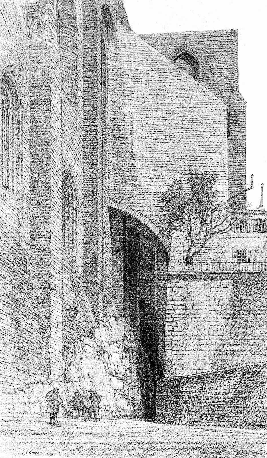 F.L. Griggs, a tree among bricks