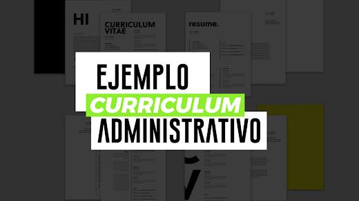 Ejemplo de curriculum vitae administrativo