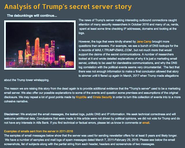 debunking trumps secret server