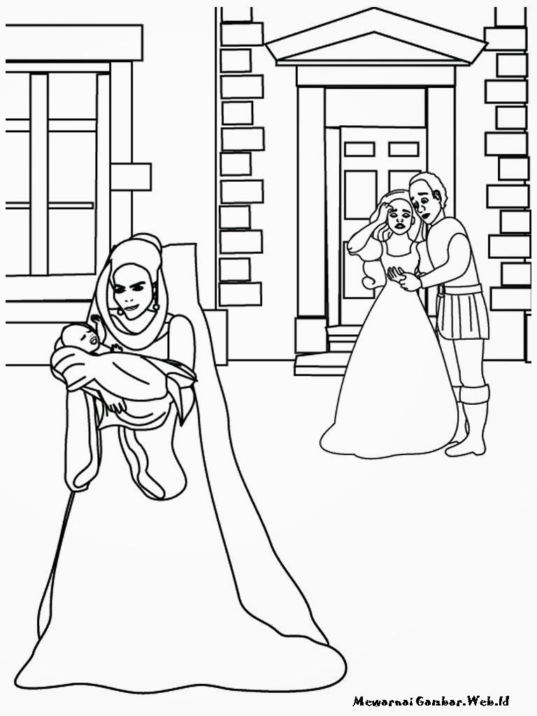 Mewarnai Barbie Rapunzel s Wedding