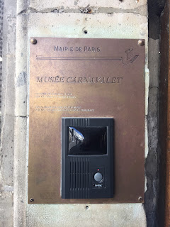 Paris Carnavalet Museum Plaque