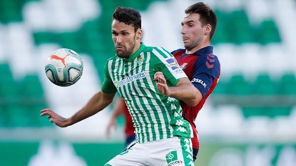 Real Betis – Osasuna, el lunes a las 21:00 h., en GOL