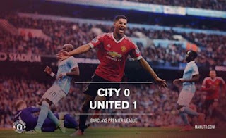manchester city vs united 0-1 rashford