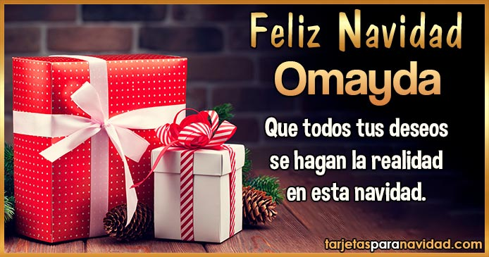 Feliz Navidad Omayda