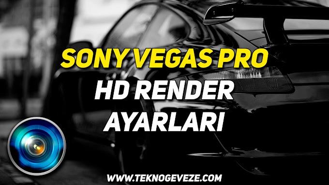 Sony Vegas Pro HD Render Ayarları