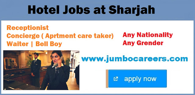 Sharjah jobs with salary and benefits 2018, Hotel / restaurant jobs UAE,