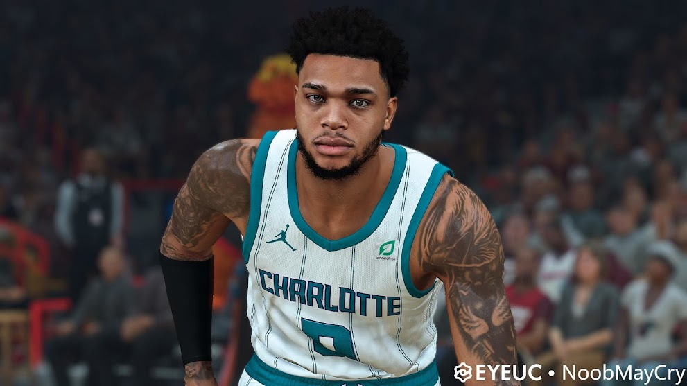 Miles Bridges Cyberface, Hair and Body Model By NoobMayCry [FOR 2K21]