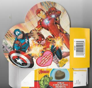 Marvel Avengers Milk Chcolate Hearts Box front