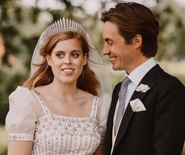 Princess Beatrice got married to Edoardo Mapelli Mazzi in a surprise ceremony at Windsor Castle. Queen wedding dress