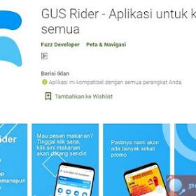 Tutorial Cara Menggunakan Aplikasi Gus Rider untuk Pesan Makan Online Gus Food