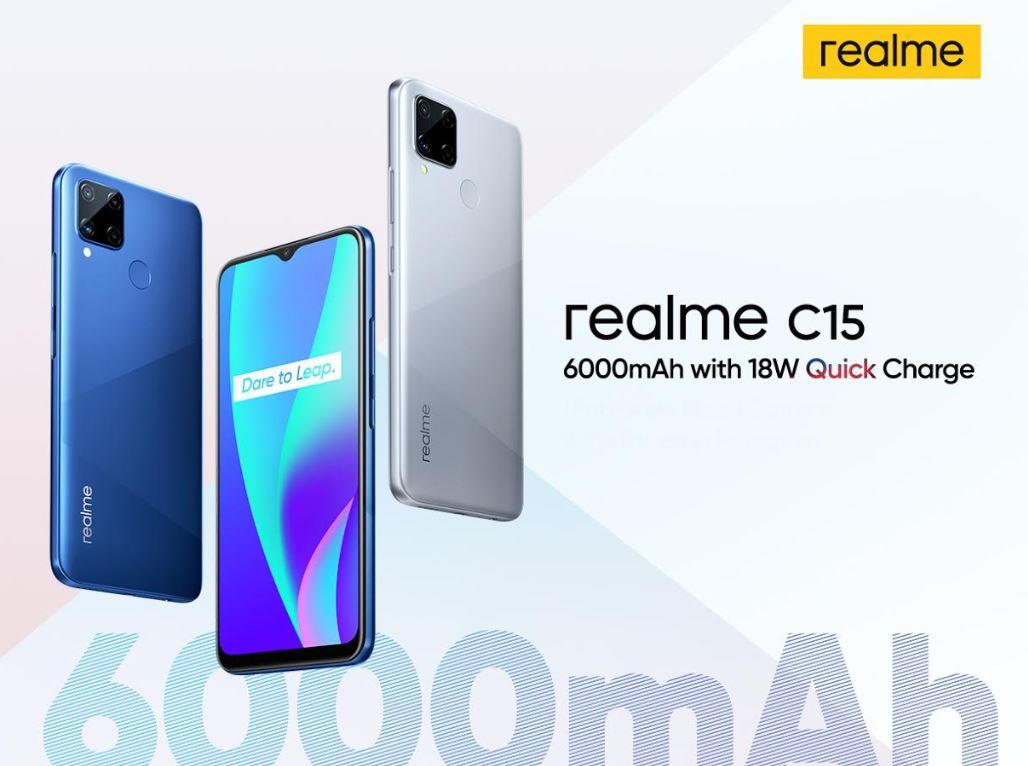 Realme C15 dengan Baterai 6000mAh Segera Meluncur di Indonesia