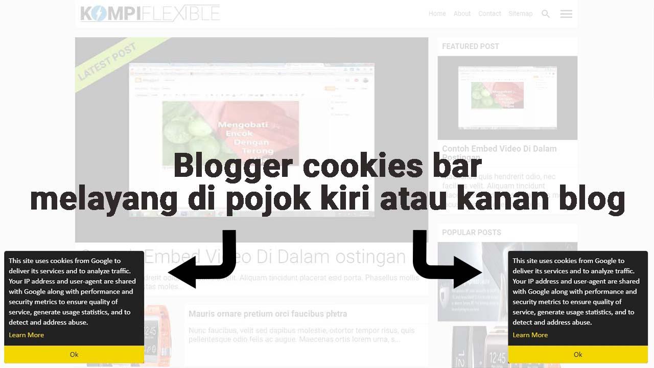 Memodifikasi Blogger Cookies Bar
