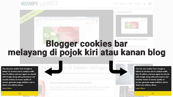 Memodifikasi Blogger Cookies Bar