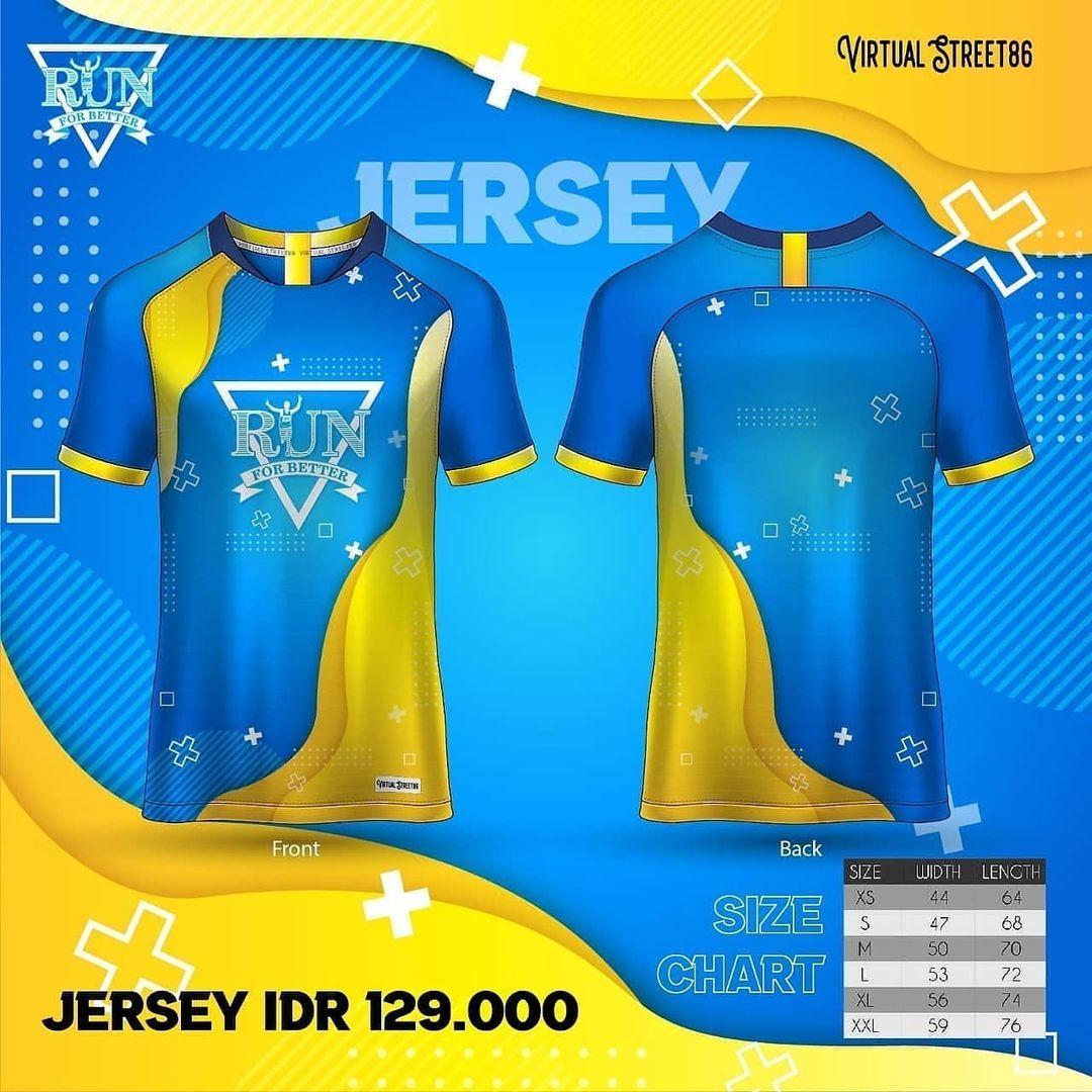 Jersey 👕 Virtual Run For Better • 2021