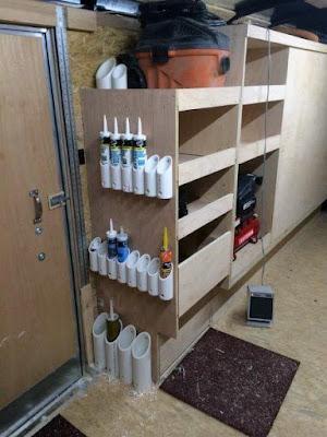 Organizador construído com cano de pvc