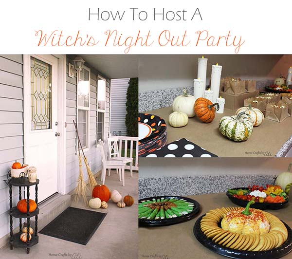lately on Home Crafts by Ali how to host a witch's night out girls halloween party