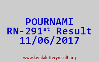 POURNAMI Lottery RN 291 Results 11-6-2017