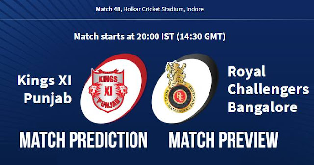 IPL 2018 Match 48 KXIP vs RCB Match Prediction, Preview and Head to Head: Who Will Win?