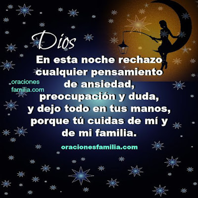 linda oracion de la noche para descansar protección de Dios