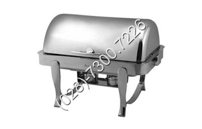Nồi soup buffet chữ nhật chân inox trắng NF2147-2