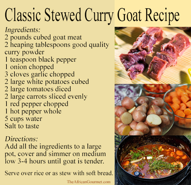 One of the pleasures in life is eating a delicious curry goat recipe.