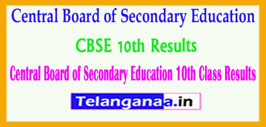 CBSE 10th Results Central Board of Secondary Education 10th Class 2018 Results