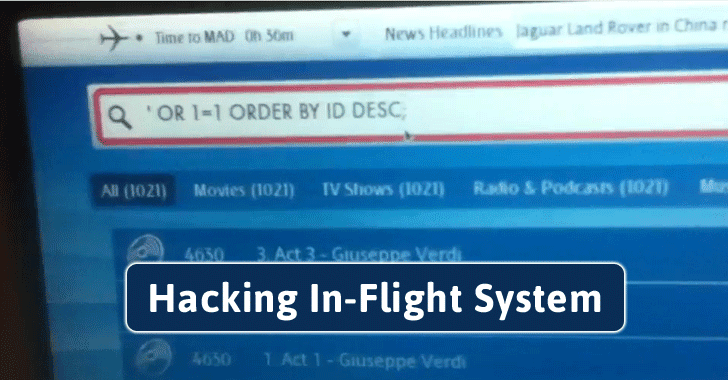 Hacker Demonstrates How Easy In-flight Entertainment System Can Be Hacked