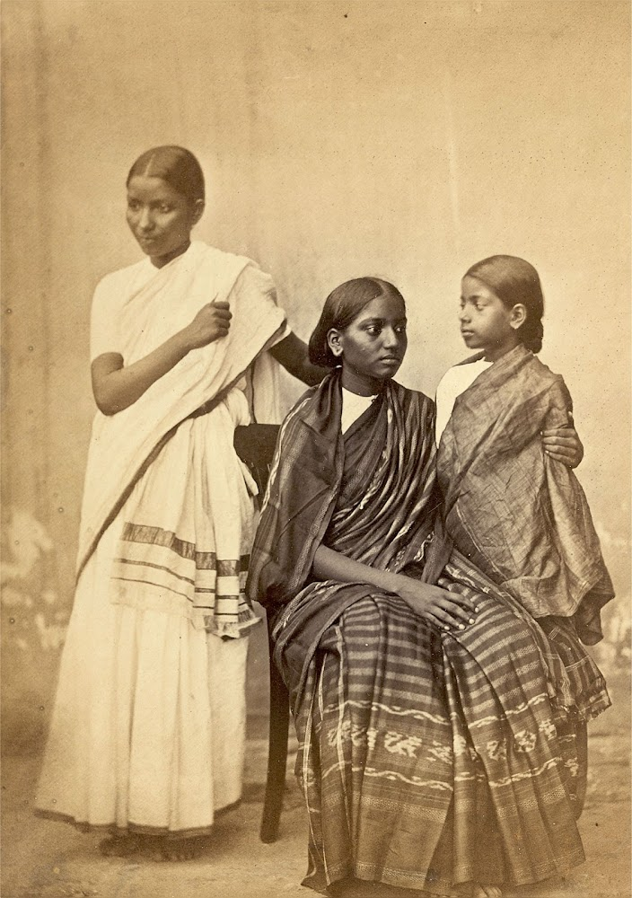 Two South Indian Woman and a Girl - Madras (Chennai) 1867