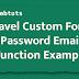 Laravel Custom Forgot Password Email Function Example