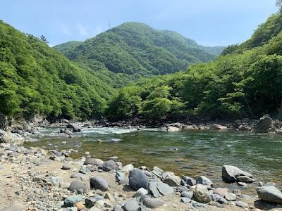 白岩半島の河原