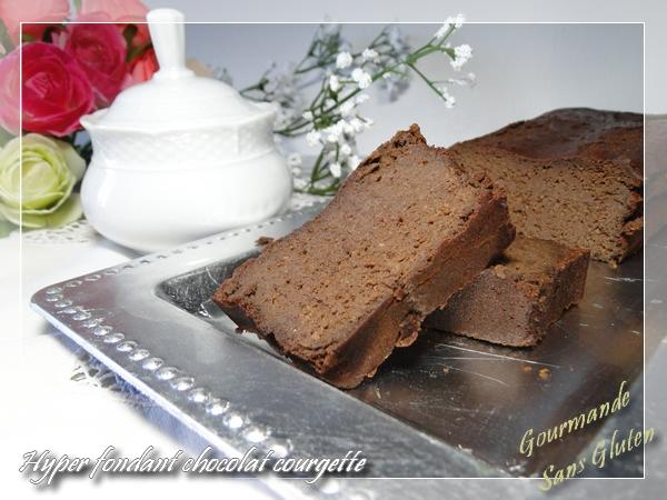 cake chocolat fondant sans gluten aux courgettes