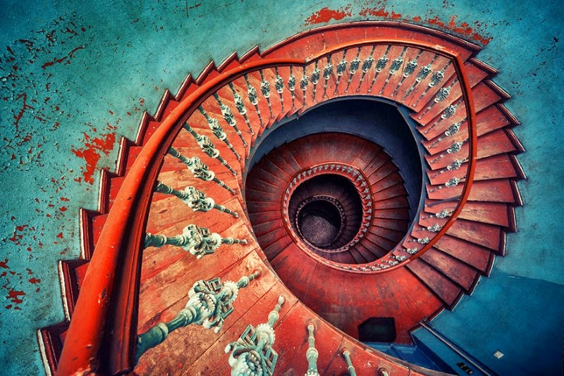"5. ""Falling"" – Matthias Haker - 15 Mesmerizing Examples of Spiral Staircase Photography"