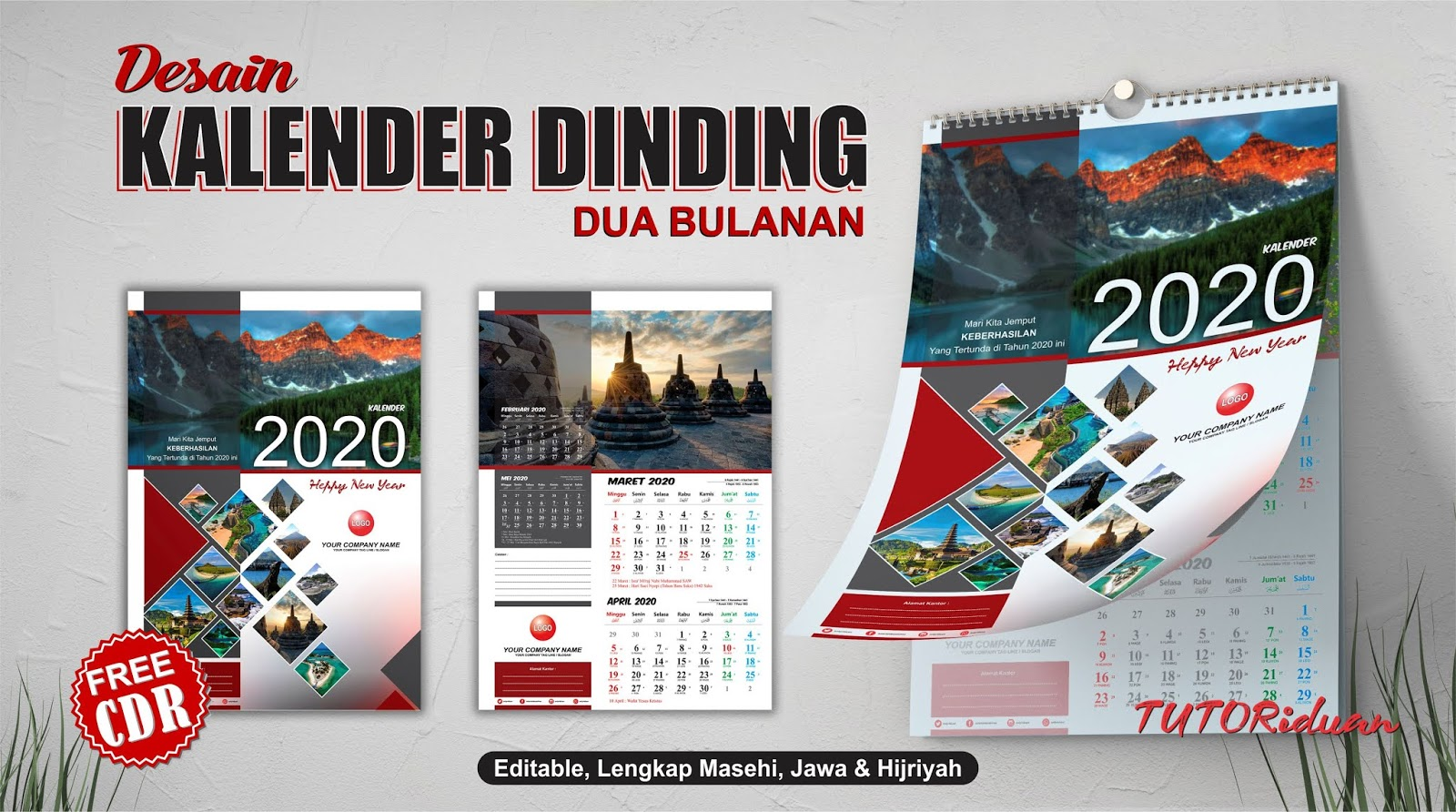 Desain Kalender Dinding 2020 dengan CorelDRAW - TUTORiduan.com