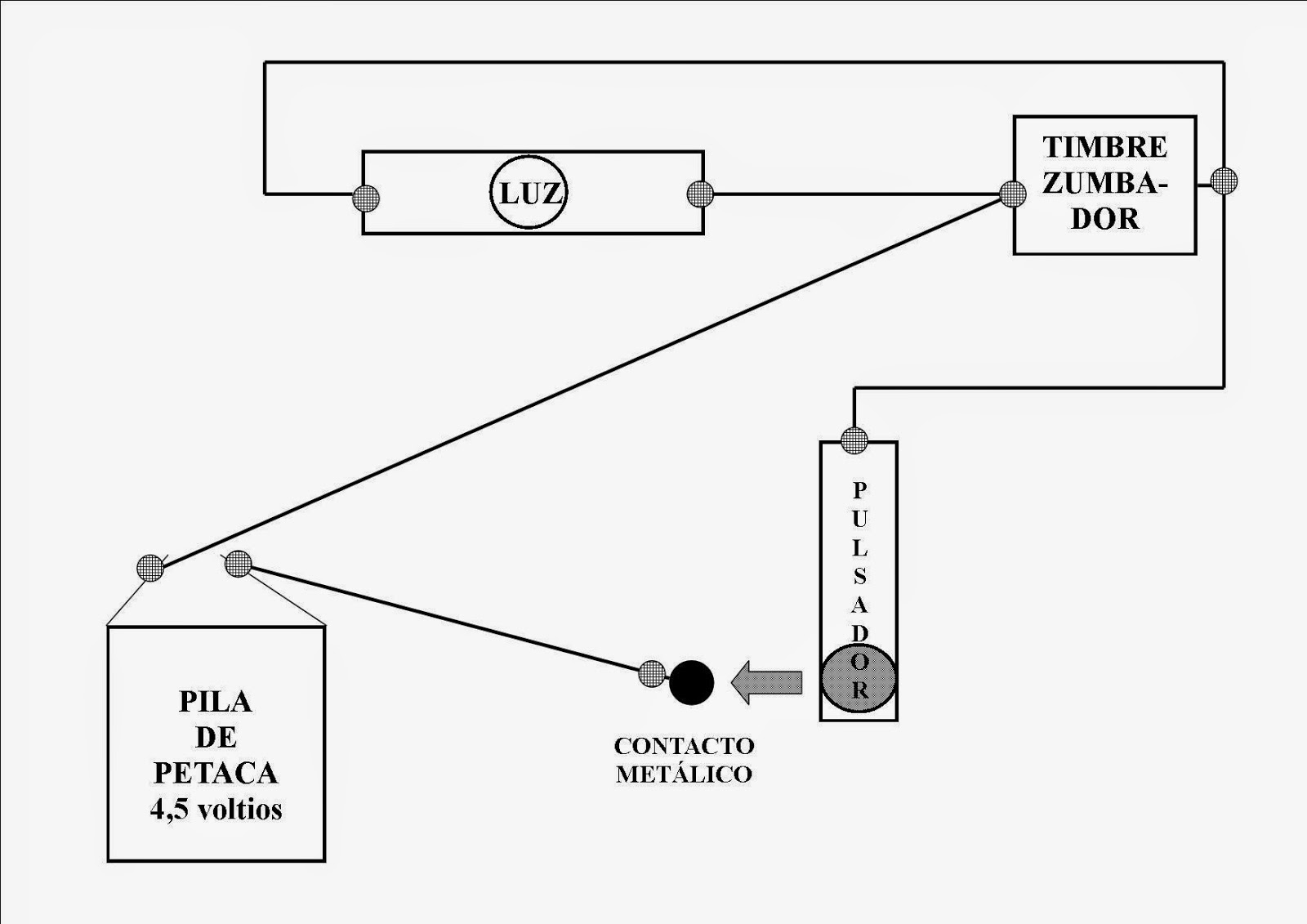 Manual del científico: Telégrafo: Esquema del circuito