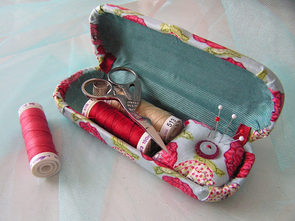 Here are some clever eyeglasses craft ideas - turn a glasses case into a portable sewing kit.