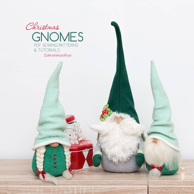 Christmas gnome patterns and sewing tutorials