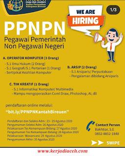 Lowongan Kerja Bireuen Rekrutmen Tenaga PPNPN Pertanahan