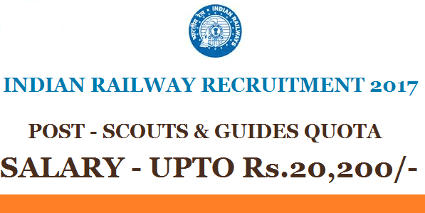 Railway jobs, Indian Railway vacancy, Railway Scouts and Guides Recruitment