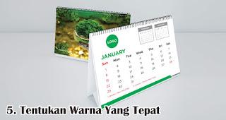 Tentukan Warna Yang Tepat merupakan salah satu tips cetak kalender keren dan menarik untuk souvenir dan barang promosi