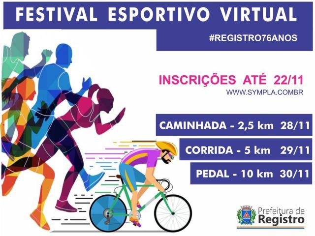 Para festejar o aniversário da cidade, vem aí o Festival Esportivo Virtual