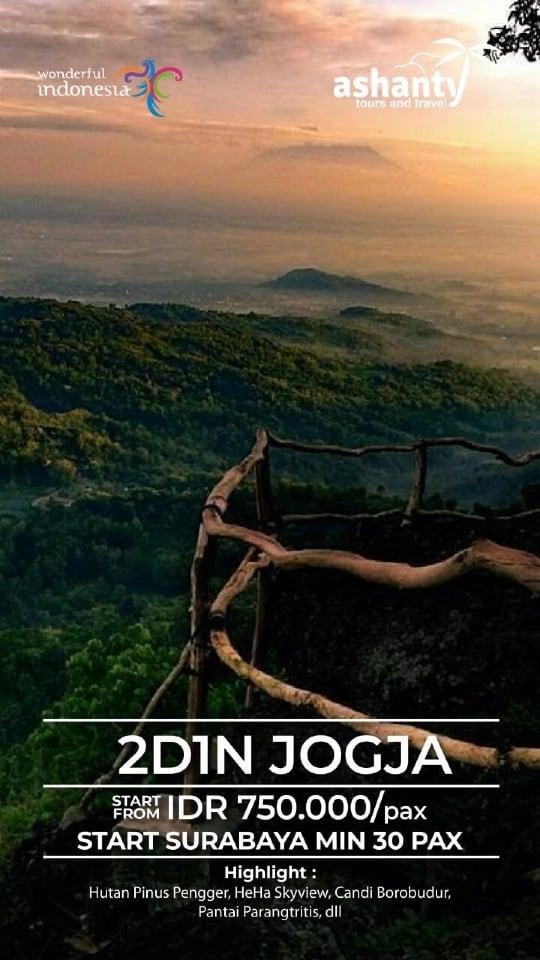 paket tour surabaya jogja 2 hari 1 malam, tour and travel surabaya jogja