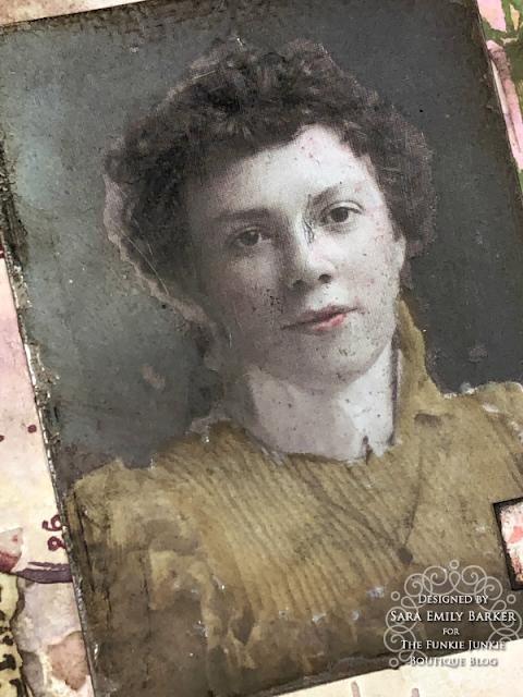 Sara Emily Barker https://sarascloset1.blogspot.com/2020/05/vintage-pink-inspiration.html Mixed Media Card #timholtz #stampersanonymous #rangerdistress #ideaology  5
