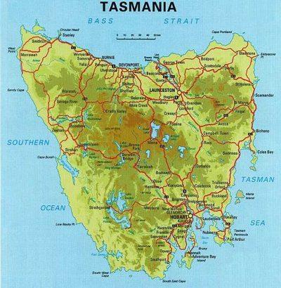 Map Of Tassie A House in Hobart: North. Map Of Tassie