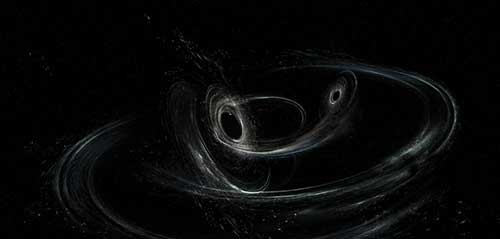 Artist conception of merging black holes GW170104 (Source: www.ligo.caltech.edu/news/ligo20170601)
