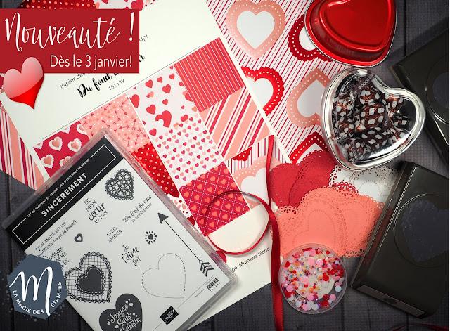 Nouveaux produits St-Valentin du mini catalogue Stampin' up! 2020