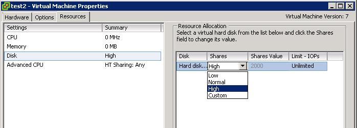 Configuring VMware Storage I/O Control in vSphere 4 1