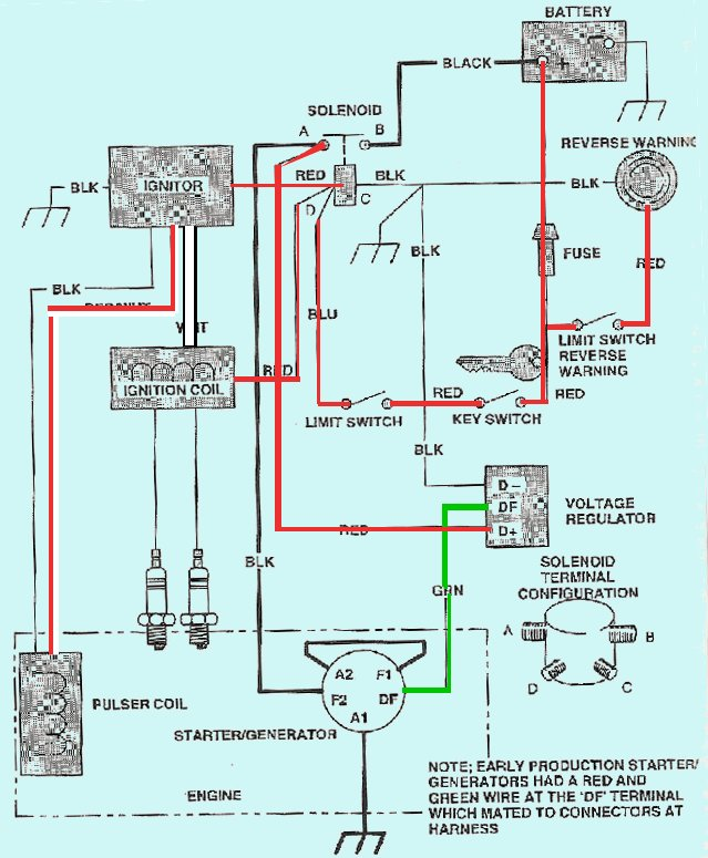 wiring diagram for 1983 ezgo marathon 36 volt 12 volt