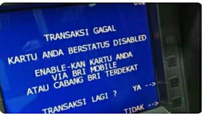 Cara Mengatasi dan Penyebab Kartu ATM BRI Disable