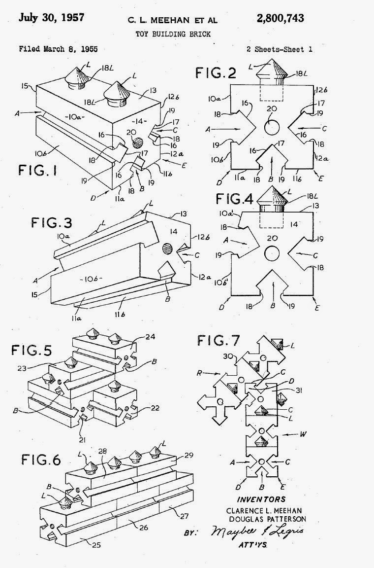 In 1957 two ontario inventors clarence leonard mehan of port credit and douglas patterson of king city patented a more sophisticated block