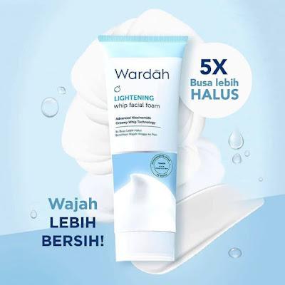 wardah whip facial foam